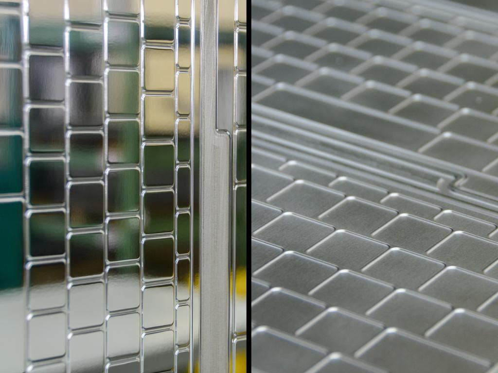 「ゴム製品の印象を変える金型の表面処理」